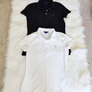 Tommy Hilfiger Black & White Polos x 2